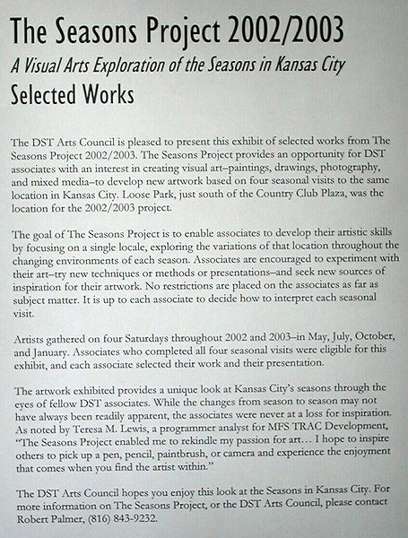 The DST Seasons Project 2002/2003